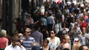 Australia's annual net overseas migration exploded after 2003.